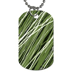 Green decorative pattern Dog Tag (One Side)