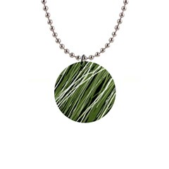 Green decorative pattern Button Necklaces