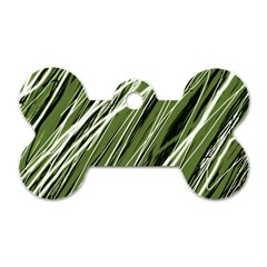 Green decorative pattern Dog Tag Bone (Two Sides)