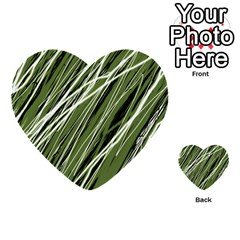 Green decorative pattern Multi-purpose Cards (Heart)
