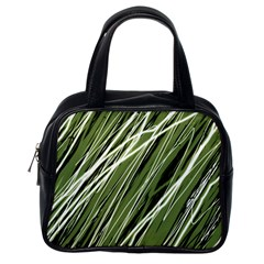 Green decorative pattern Classic Handbags (One Side)