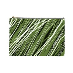 Green decorative pattern Cosmetic Bag (Large)