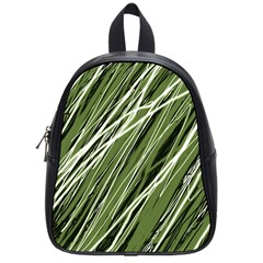 Green decorative pattern School Bags (Small)