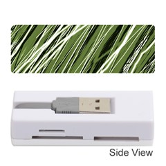 Green decorative pattern Memory Card Reader (Stick)