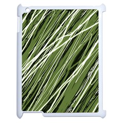 Green decorative pattern Apple iPad 2 Case (White)