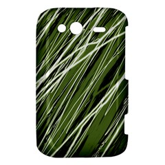 Green decorative pattern HTC Wildfire S A510e Hardshell Case