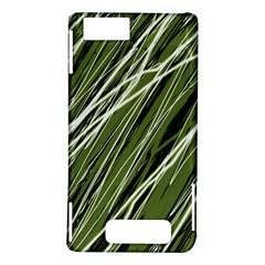 Green decorative pattern Motorola DROID X2