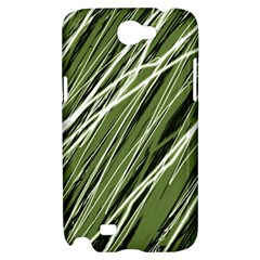 Green decorative pattern Samsung Galaxy Note 2 Hardshell Case