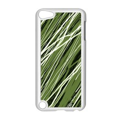 Green decorative pattern Apple iPod Touch 5 Case (White)