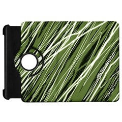 Green decorative pattern Kindle Fire HD Flip 360 Case
