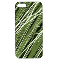 Green decorative pattern Apple iPhone 5 Hardshell Case with Stand