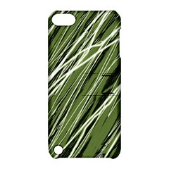 Green decorative pattern Apple iPod Touch 5 Hardshell Case with Stand