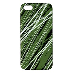 Green decorative pattern Apple iPhone 5 Premium Hardshell Case