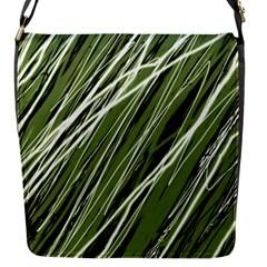 Green decorative pattern Flap Messenger Bag (S)