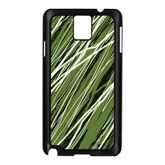 Green decorative pattern Samsung Galaxy Note 3 N9005 Case (Black)