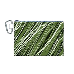 Green decorative pattern Canvas Cosmetic Bag (M)