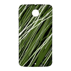 Green decorative pattern Nexus 6 Case (White)