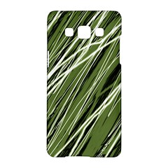 Green decorative pattern Samsung Galaxy A5 Hardshell Case