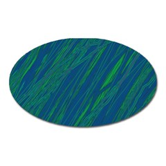 Green Pattern Oval Magnet