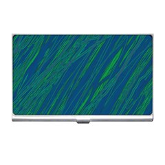 Green pattern Business Card Holders