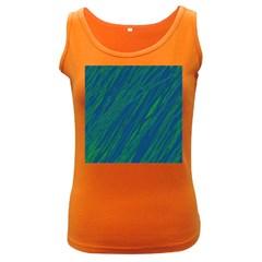 Green pattern Women s Dark Tank Top