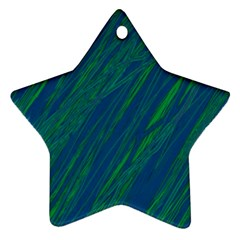 Green pattern Star Ornament (Two Sides)