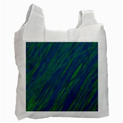 Green pattern Recycle Bag (One Side)