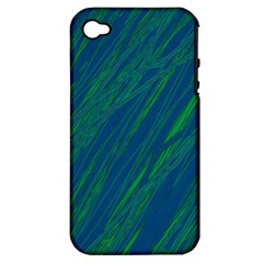 Green pattern Apple iPhone 4/4S Hardshell Case (PC+Silicone)