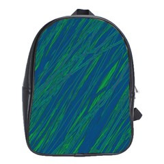 Green pattern School Bags (XL)
