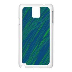Green pattern Samsung Galaxy Note 3 N9005 Case (White)