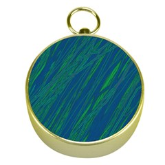 Green pattern Gold Compasses