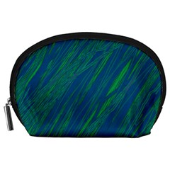 Green pattern Accessory Pouches (Large)