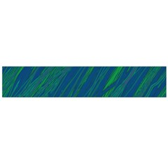 Green pattern Flano Scarf (Large)