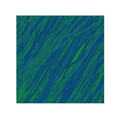 Green pattern Small Satin Scarf (Square)