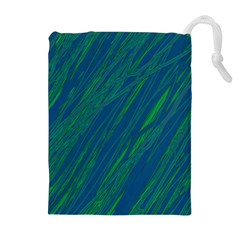 Green pattern Drawstring Pouches (Extra Large)
