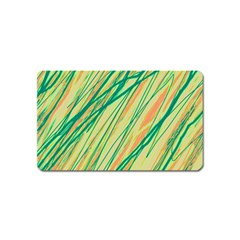 Green and orange pattern Magnet (Name Card)