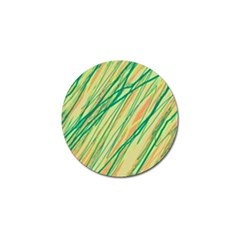 Green and orange pattern Golf Ball Marker