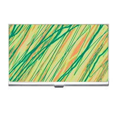 Green and orange pattern Business Card Holders