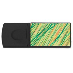 Green and orange pattern USB Flash Drive Rectangular (1 GB)