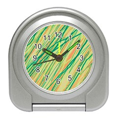 Green and orange pattern Travel Alarm Clocks