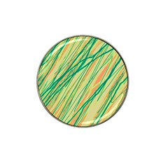 Green and orange pattern Hat Clip Ball Marker (10 pack)