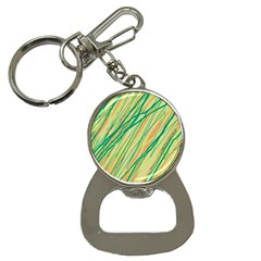 Green and orange pattern Bottle Opener Key Chains