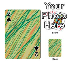 Green and orange pattern Playing Cards 54 Designs