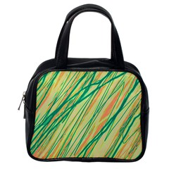Green and orange pattern Classic Handbags (One Side)