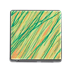 Green and orange pattern Memory Card Reader (Square)