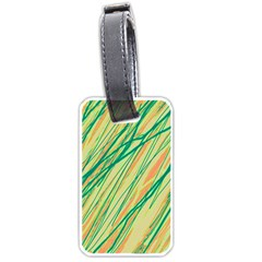 Green and orange pattern Luggage Tags (Two Sides)