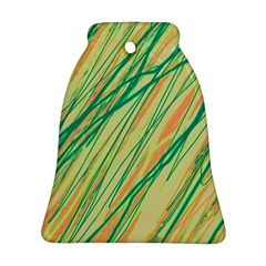 Green and orange pattern Bell Ornament (2 Sides)