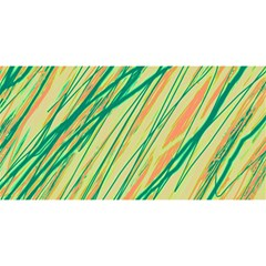 Green and orange pattern YOU ARE INVITED 3D Greeting Card (8x4)