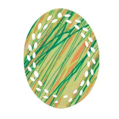 Green and orange pattern Ornament (Oval Filigree)