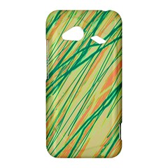 Green and orange pattern HTC Droid Incredible 4G LTE Hardshell Case